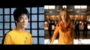"Bruce Lee in ""Game of Death"" and Uma Thurman in ""Kill Bill Vol. 1"""